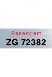 Parkplatzschild Aluminium 330x125x1,5 mm