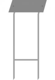 Rasenständer mit Doppelstab, 76 cm, ve..