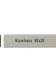 Briefkastenschild Alumhaus, 80x20 mm