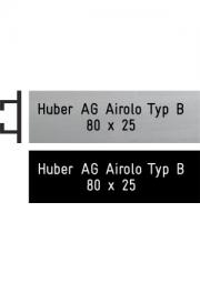 Briefkastenschild Huber, Typ B, 80x25 mm