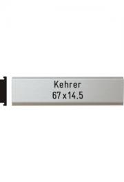 Briefkastenschild Kehrer, 67x14.5 mm