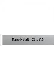Briefkastenschild Marc-Metall, 120x21x..
