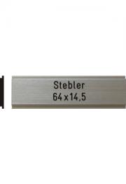 Briefkastenschild Stebler, 64x14.5 mm