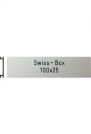 Briefkastenschild Swiss Box, 100x25 mm