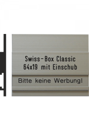 Briefkastenschild Swiss Box, 64x32 mm,..