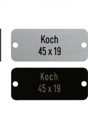 Sonnerieschild Koch, 2 Loch