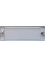 Plexiabdeckung, 65x21 mm, mit Schräubchen zu 51x17