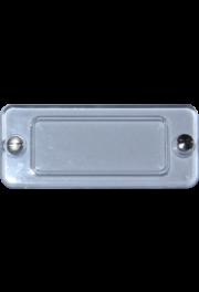 Plexiabdeckung, 47x20 mm, mit Schräubchen zu 32x13