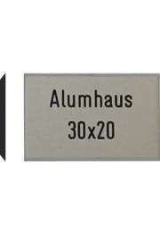 Briefkastenschild Alumhaus, 30x20 mm