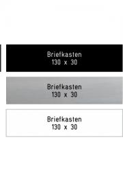 Briefkastenschild 130x30 mm