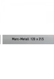 Briefkastenschild Marc-Metall, 120x21x0.5