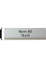 Briefkastenschild Norm AG, 70x14 mm