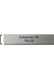 Briefkastenschild Schweizer AG, 110x20 mm