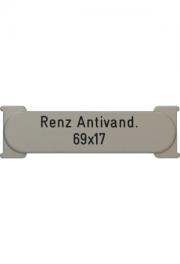 Briefkastenschild Renz, Anti-Vandalismus, 69x17x1.5 mm