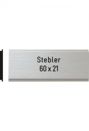 Briefkastenschild Stebler, 60x21 mm